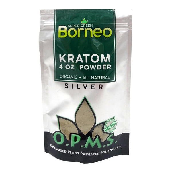 OPMS SILVER KRATOM POWDER 4oz