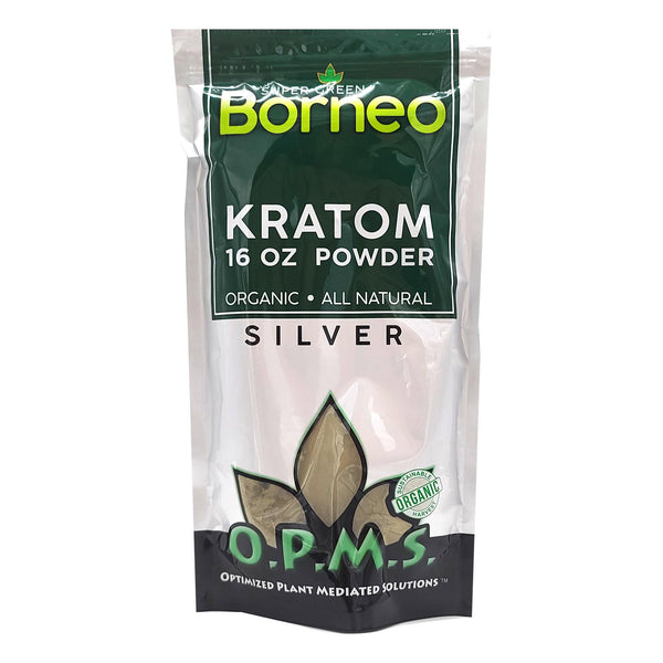 OPMS SILVER KRATOM Powder 16oz
