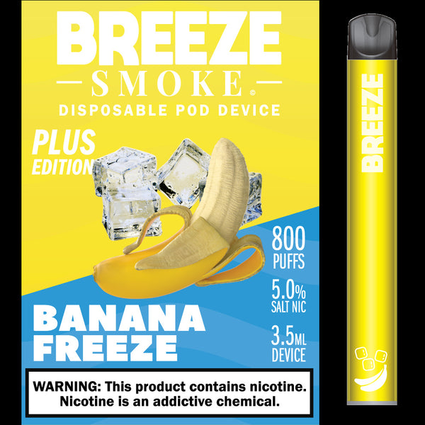BREEZE PLUS DISPOSABLE 5% 800 PUFFS