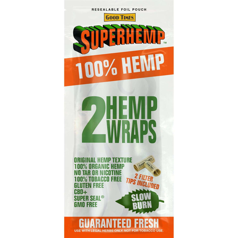 SUPERHEMP WRAP 2CT 25-BOX