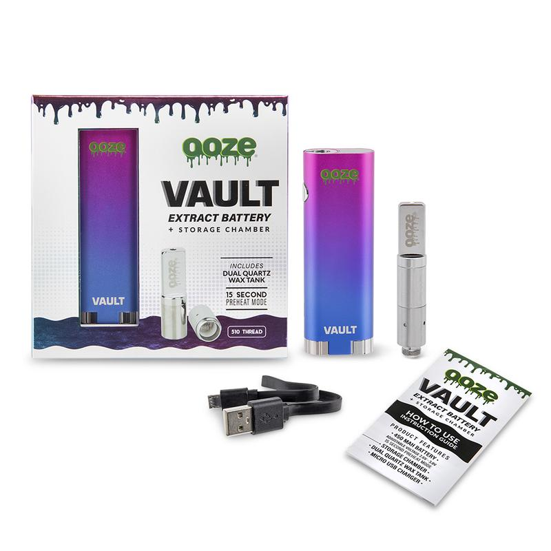 OOZE VAULT EXTRACT BATTERY WITH STORAGE RAINBOW
