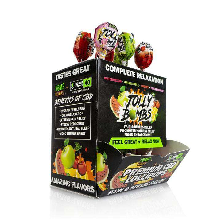 CBD Lollipops 40 mg 24-Count Box Display