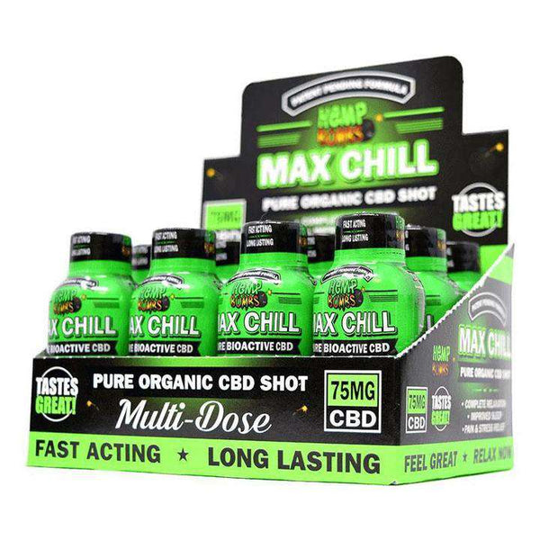 Hemp Bombs CBD Max Chill Shot 75mg 12/Box