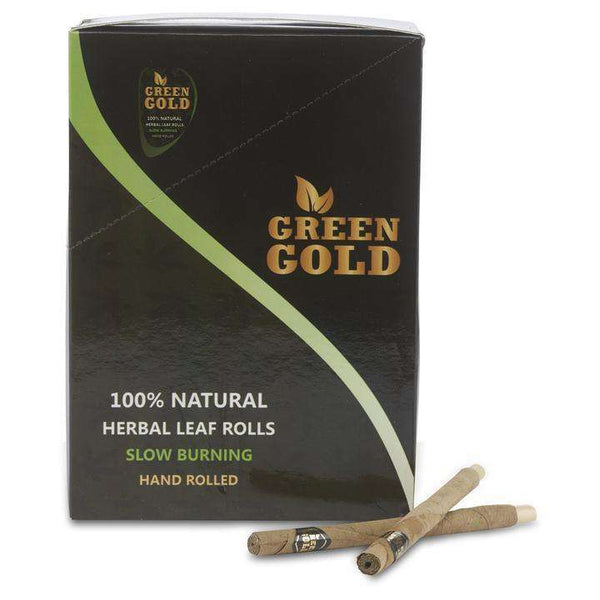 Green Gold Leaf Cones