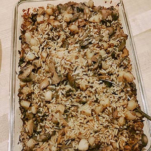 Wild Rice Casserole with Crunch