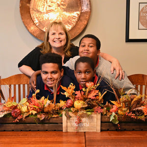 DIY Fall Centerpiece for KC Boys
