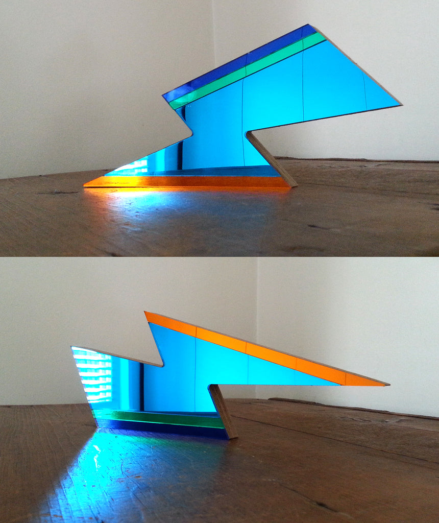 Blue Lightning Mirror