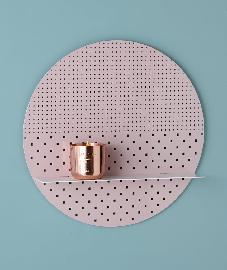 Small Blush Circle- white or brass finish