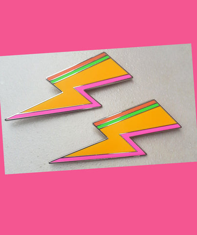 Fluro Bolt Brooch