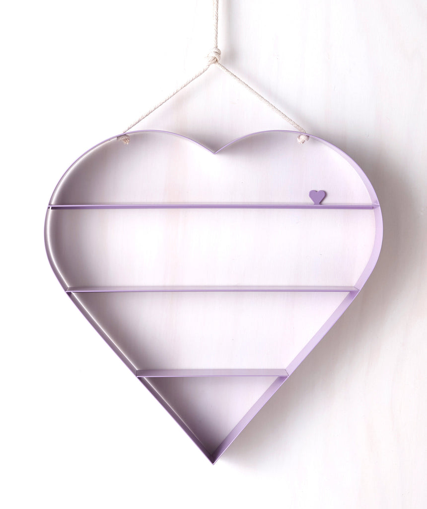 Heart Shelf - Lilac