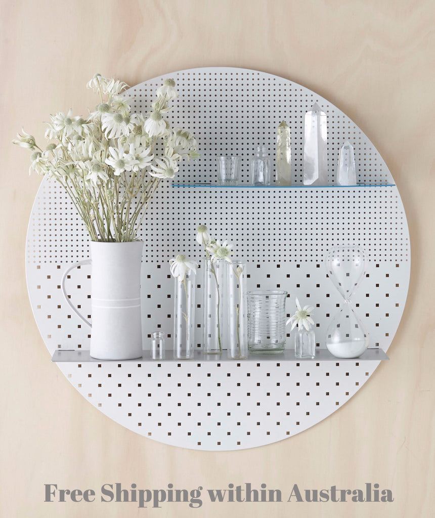 White Mesh Circle Shelf
