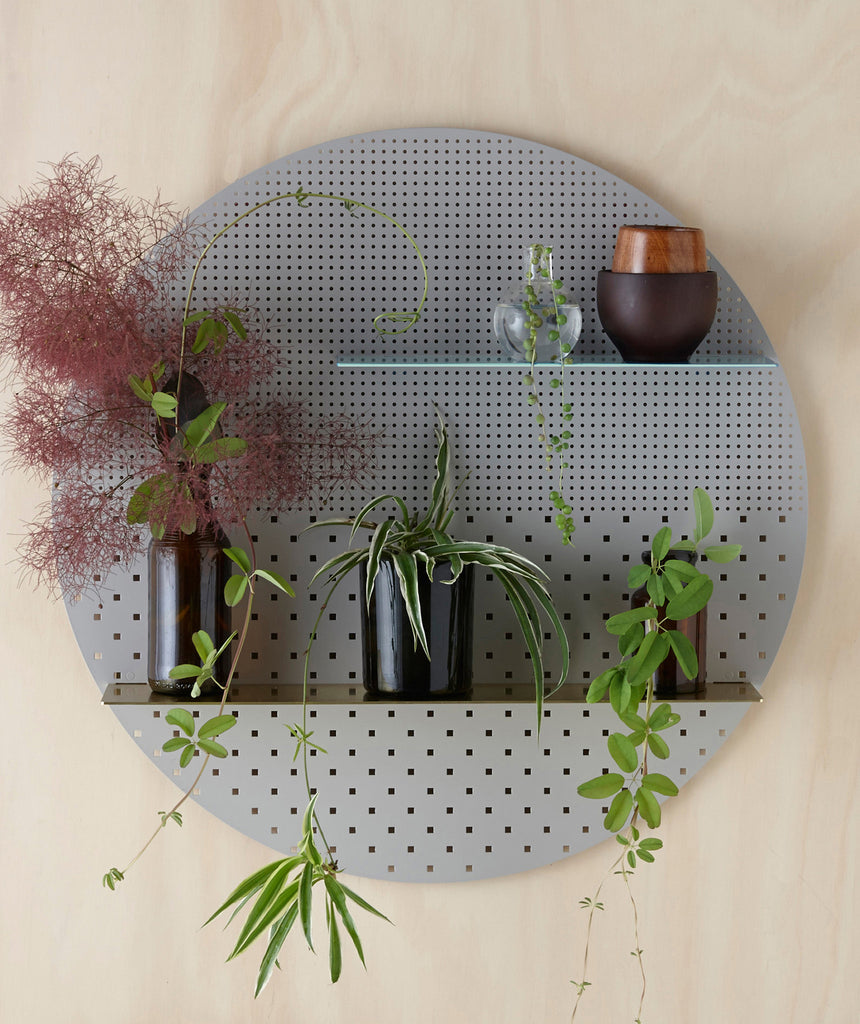 Grey Mesh Circle Shelf