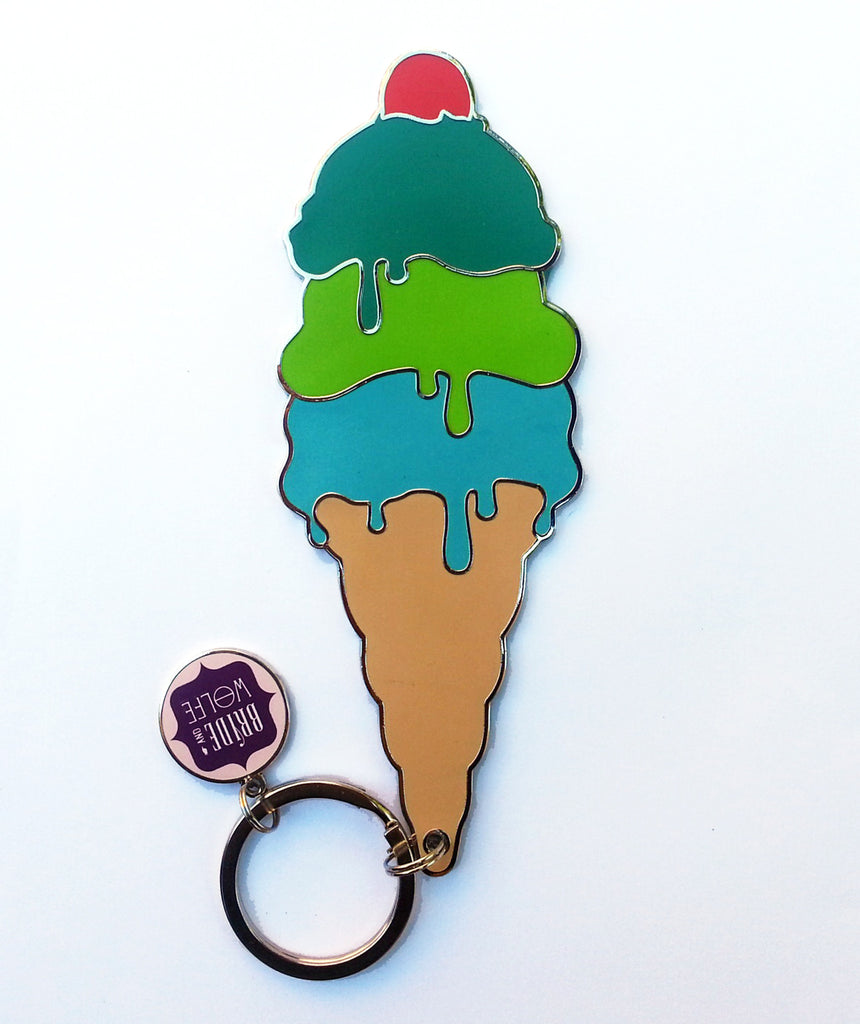 Ice Cream Keyring