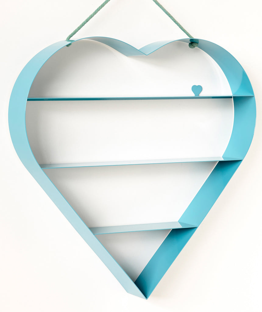 Heart Shelf - Blue