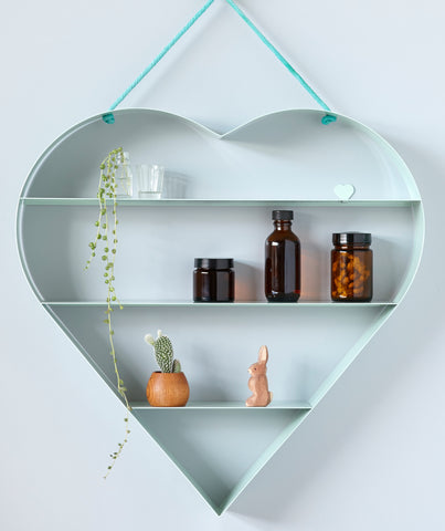 Heart Shelf - Mint