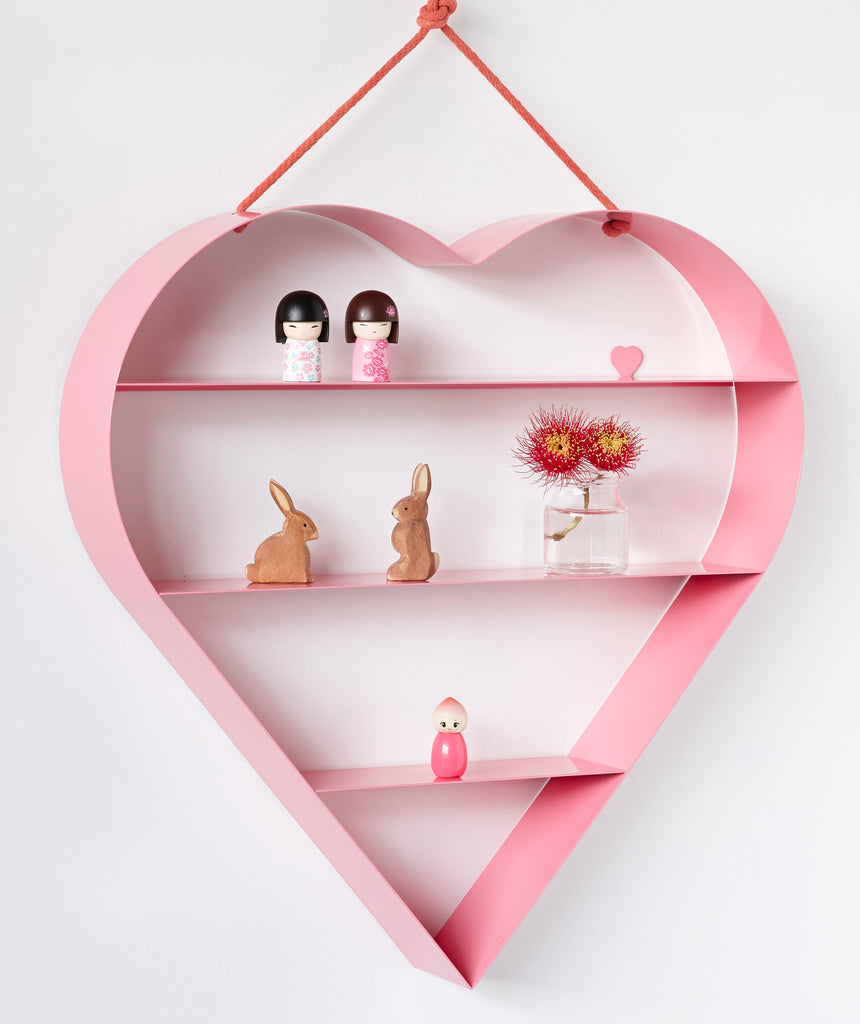 Heart Shelf   Pink