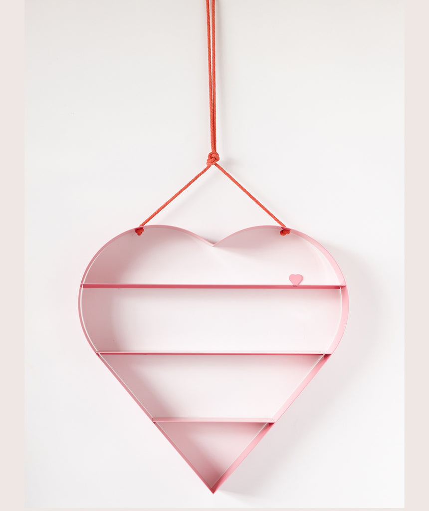Heart Shelf - Pink