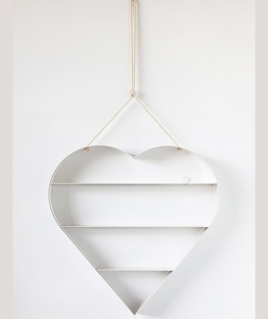 Heart Shelf - White
