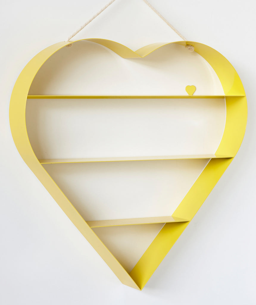 Heart Shelf - Yellow