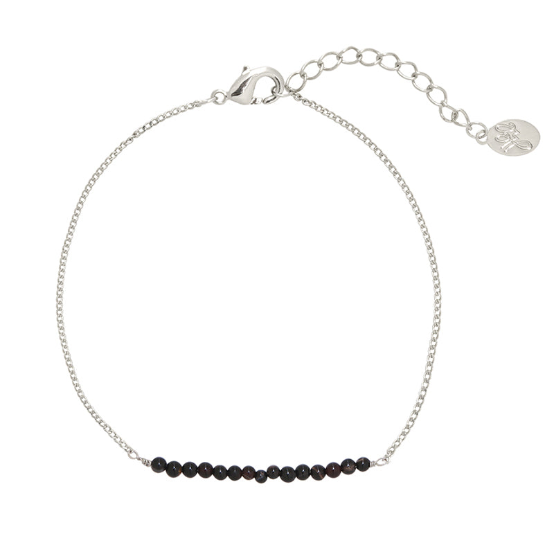 YEHWANG - BRACELET FABULOUS BEADS - SILVER/BLACK - Styling by Claudia