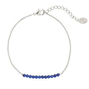 YEHWANG - BRACELET FABULOUS BEADS - SILVER/BLUE - Styling by Claudia