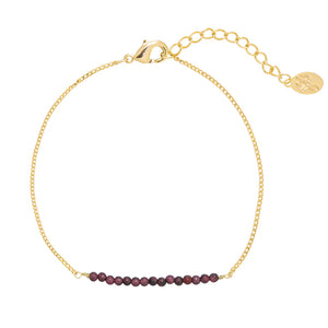 YEHWANG - BRACELET FABULOUS BEADS - GOLD/PURPLE - Styling by Claudia