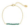 YEHWANG - BRACELET FABULOUS BEADS - GOLD/GREEN - Styling by Claudia
