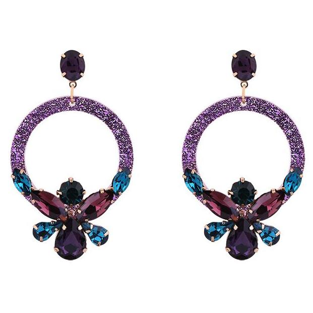 Earrings - Taste of Style Purple - Styling by Claudia