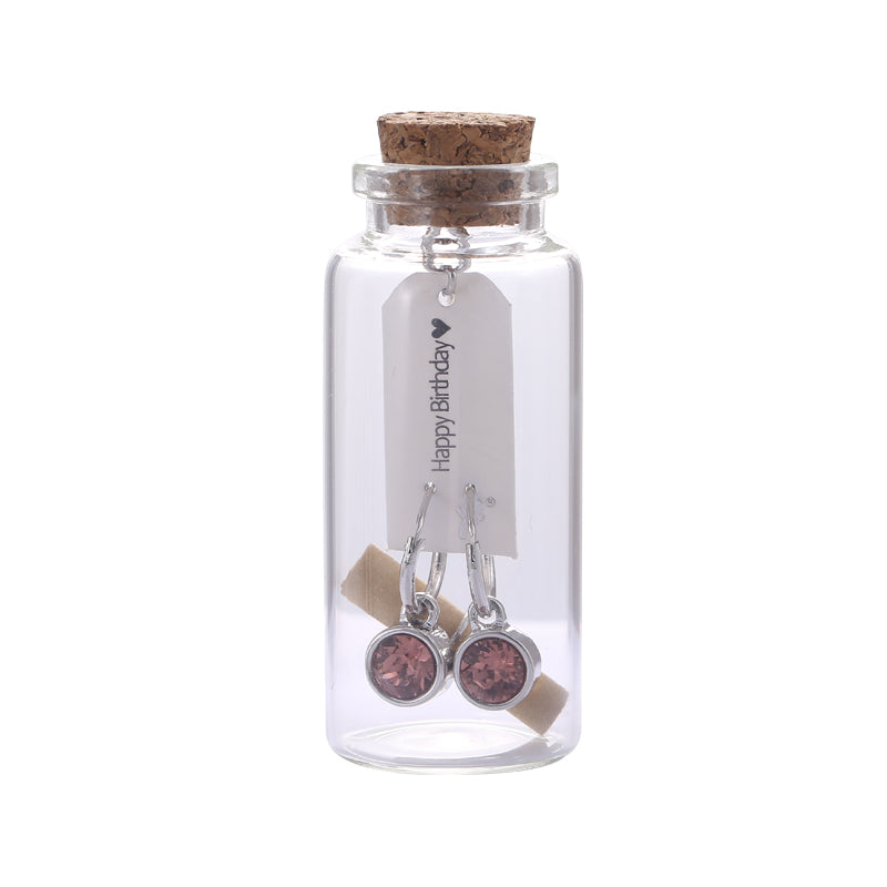 "Yehwang - Gift bottle ""Happy Birthday"" - gift bottle - earrings - Styling by Claudia"