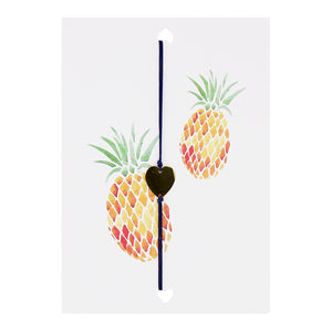 LUCIES AMSTERDAM - POSTCARD - PINEAPPLE HEART - Styling by Claudia