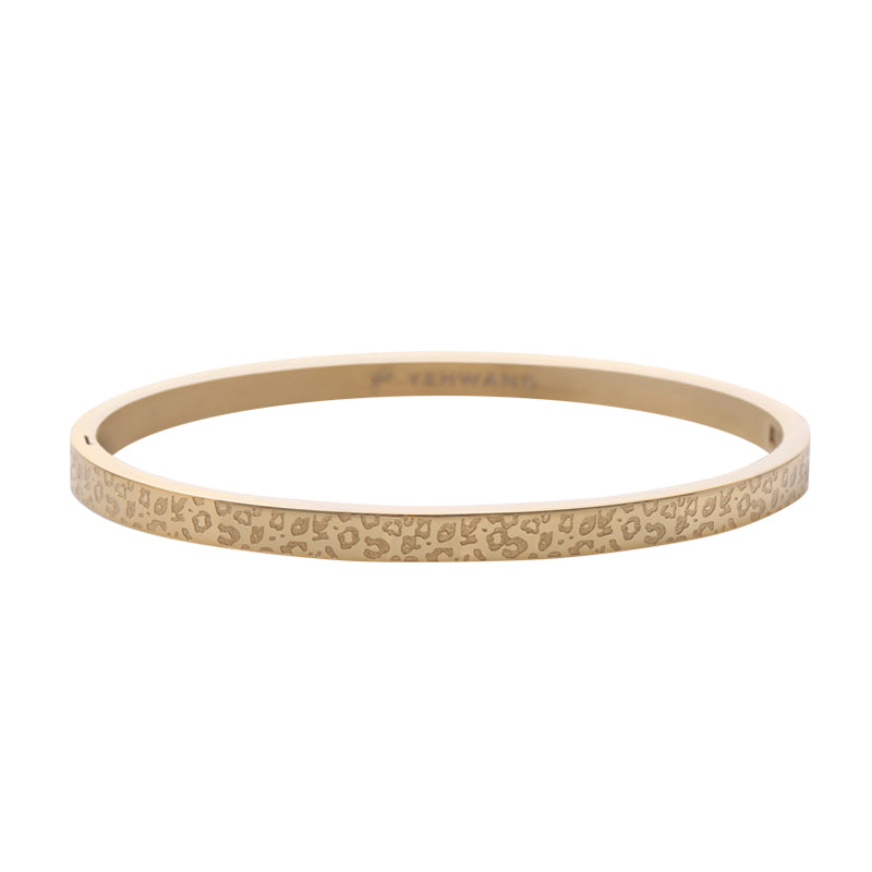 YEHWANG - BRACELET CLASSY LEOPARD SMALL - GOLD - Styling by Claudia