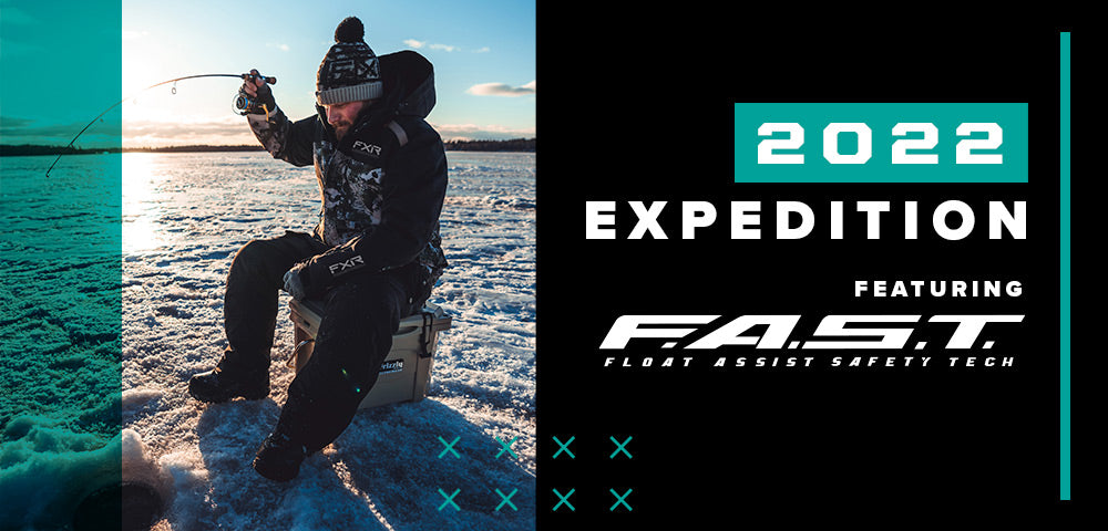 An image of a guy wearing FXR's 2022 Expedition Jacket