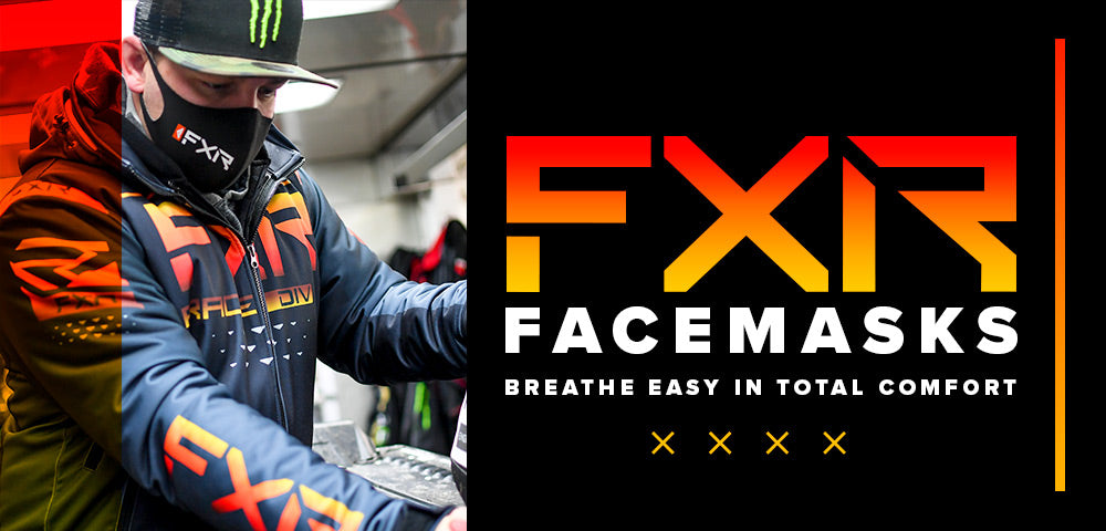An image of a guy wearing FXR's Face Mask