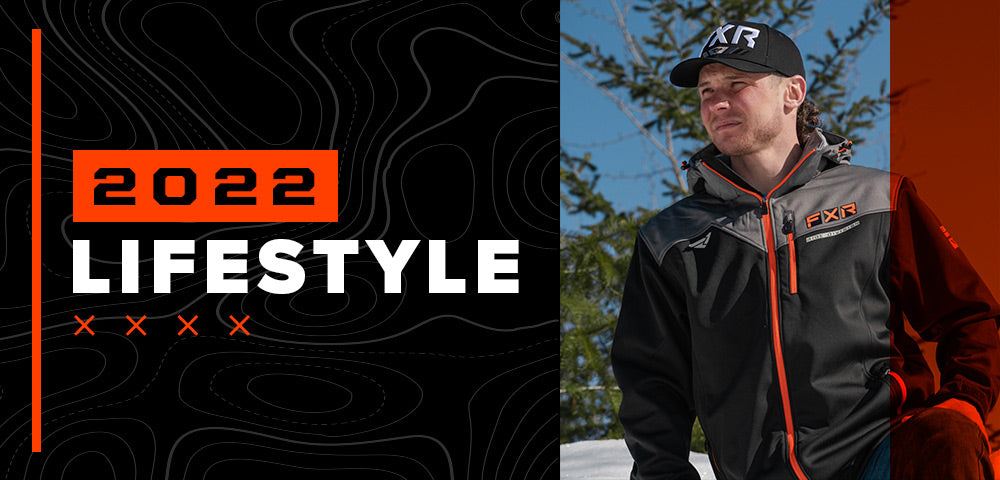 An image of a guy wearing FXR's new 2022 lifestyle jacket