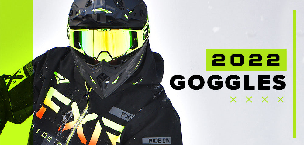 An image featuring FXR's new 2022 goggles