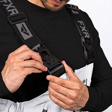 A smaller image showing adjustable suspender with front swivel buckles.