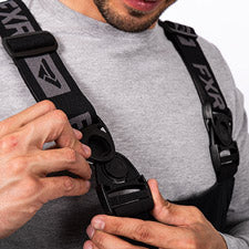 A smaller image of an adjustable suspender with front swivel buckles.