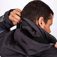 Smaller image of an attached fold-away vented hood with shock-cord adjustable front and back.