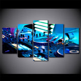 DJ Playing Framed 5 Piece Music Canvas Wall Art Painting Wallpaper Poster Picture Print Photo Decor
