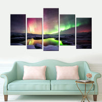 Custom 5 Piece Multi Panel Personalized Canvas Wall Art