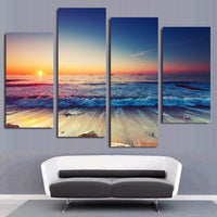 4 Piece Framed Custom Canvas Personalized Prints