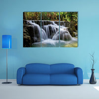 Beautiful Tropical Waterfall 3 Piece Canvas Wall Art Image Picture Wallpaper Mural Decoration Artwork Poster Photo Decor Print Gift Painting