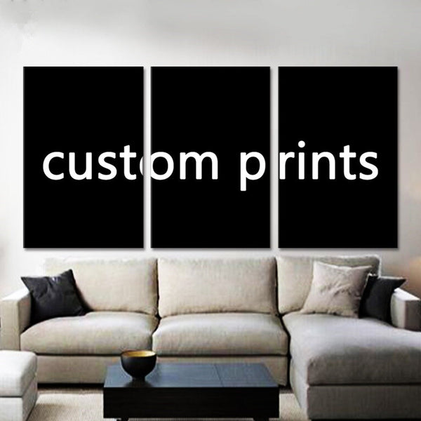3 Piece Custom Canvas Print Wall Art | Personalized Canvas Gifts | Multi Panel 3 Piece Customized Framed Personal Photo Canvas Wall Art
