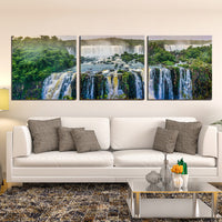 Waterfalls Images Pictures Wallpaper Mural Decoration Design Artwork Poster Canvas Photos Decor Prints Gifts Painting Photography Wall Art