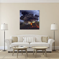 Volcano Eruption Canvas Wall Art Photography Images Pictures Of Volcanoes Wallpaper Painting Posters Mural Decor Photos Portrait Prints Gift