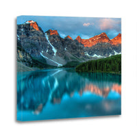 Moraine Lake Banff Alberta Canada Rocky Mountain Canvas Wall Art Images Pictures Of Mountains Wallpaper Paintings Posters Decor Photos Prints Gift