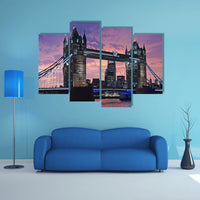 London Bridge England 4 Piece Canvas Wall Art Image Pictures Of London Wallpaper Mural Design Artwork Poster Decor Print Gift Painting Photo