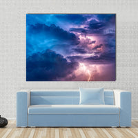 Lightning Canvas Wall Art Photography Images Pictures Of Lightning Wallpaper Painting Poster Mural Decor Photos Portrait Prints Gift Artwork