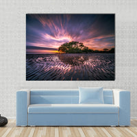 Sunrise Sunset Nature Canvas Wall Art Photography Images Pictures Of Sunsets Sunrises Wallpaper Painting Poster Mural Decor Photo Print Gift