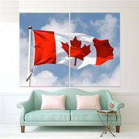 Patriotic Canadian Flag 1, 2, 3, 4 & 5 Piece Multi Panel Canvas Wall Art Canada Decor Poster Print Artwork Wallpaper Picture Art Photo Image